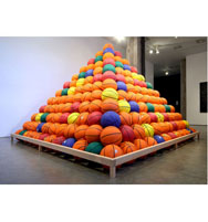 Basketball Pyramid at the San Fransisco Arts Commission by David Huffman artist
