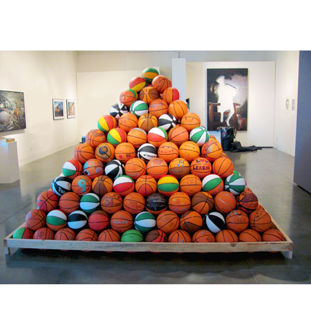 Pyramid Project 3 by artist David Huffman at the Euphrat Museum
